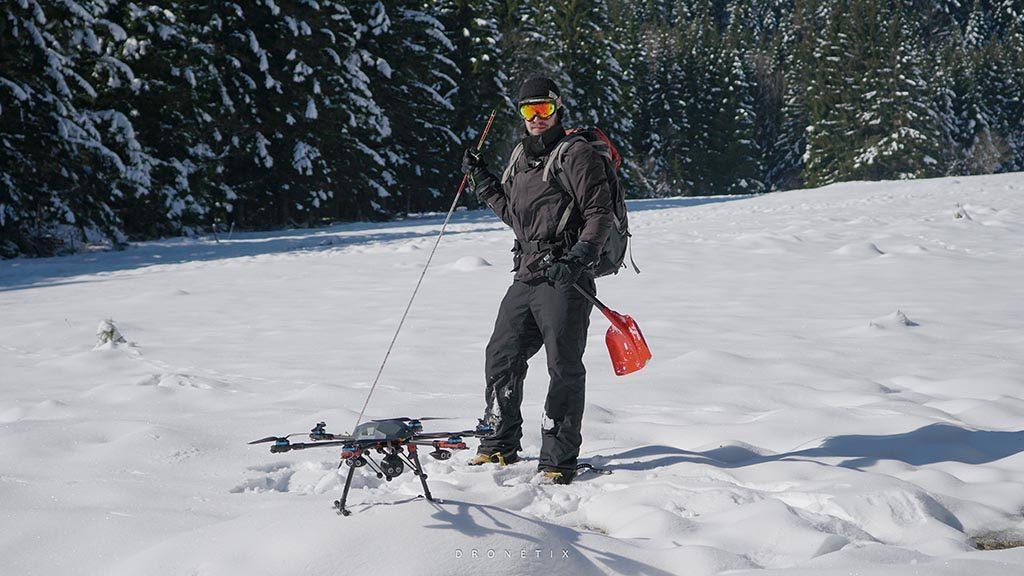 Drone autonome de recherche de victime d'avalanches