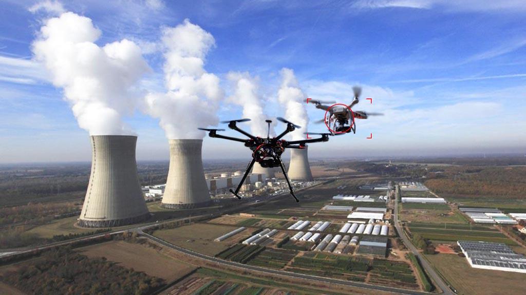 Drone autonome d'interception de drones intrus